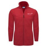 Columbia Full Zip Red Fleece Jacket-