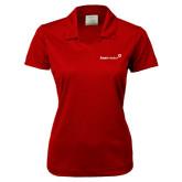 Ladies Nike Golf Dri Fit Red Micro Pique Polo-