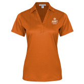 Ladies Orange Performance Fine Jacquard Polo-Ambit Energy Canada
