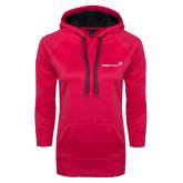 Ladies Pink Raspberry Tech Fleece Hooded Sweatshirt-