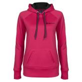 Ladies Pink Raspberry Tech Fleece Hoodie-Ambit Energy