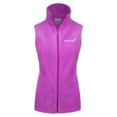 Columbia Ladies Full Zip Lilac Fleece Vest-