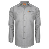 Red Kap Light Grey Long Sleeve Industrial Work Shirt-Ambit Energy
