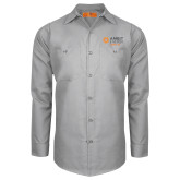 Red Kap Light Grey Long Sleeve Industrial Work Shirt-Ambit Energy Japan