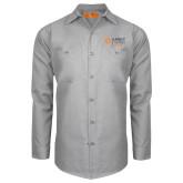 Red Kap Light Grey Long Sleeve Industrial Work Shirt-Ambit Energy Japan