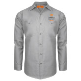 Red Kap Light Grey Long Sleeve Industrial Work Shirt-Ambit Energy Canada