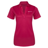 Ladies Pink Raspberry Silk Touch Performance Polo-Ambit Energy