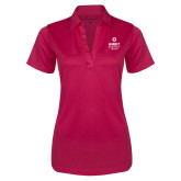Ladies Pink Raspberry Silk Touch Performance Polo-Ambit Energy Canada