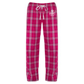 Ladies Dark Fuchsia/White Flannel Pajama Pant-Ambit Energy Canada