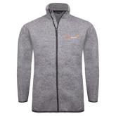 Grey Heather Fleece Jacket-