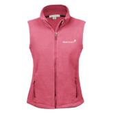 Ladies Fleece Full Zip Raspberry Vest-