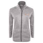 Grey Heather Ladies Fleece Jacket-