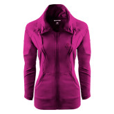 Ladies Sport Wick Stretch Full Zip Deep Berry Jacket-