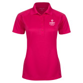 Ladies Pink Raspberry Dry Mesh Pro Polo-Ambit Energy Canada