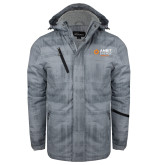 Grey Brushstroke Print Insulated Jacket-Ambit Energy Japan