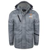 Grey Brushstroke Print Insulated Jacket-Ambit Energy Canada