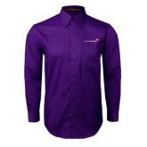Purple Twill Button Down Long Sleeve-