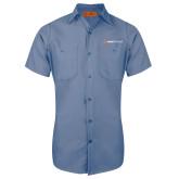 Red Kap Postman Blue Short Sleeve Industrial Work Shirt-Ambit Energy