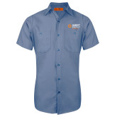 Red Kap Postman Blue Short Sleeve Industrial Work Shirt-Ambit Energy Japan