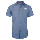 Red Kap Postman Blue Short Sleeve Industrial Work Shirt-Ambit Energy Canada