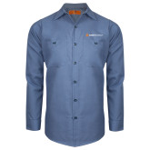 Red Kap Postman Blue Long Sleeve Industrial Work Shirt-Ambit Energy