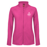 Ladies Fleece Full Zip Raspberry Jacket-Ambit Energy Canada