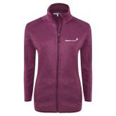 Dark Pink Heather Ladies Fleece Jacket-