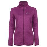 Dark Pink Heather Ladies Fleece Jacket-Ambit Energy