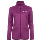 Dark Pink Heather Ladies Fleece Jacket-Ambit Energy Japan