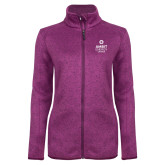 Dark Pink Heather Ladies Fleece Jacket-Ambit Energy Canada
