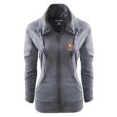 Ladies Sport Wick Stretch Full Zip Charcoal Jacket-