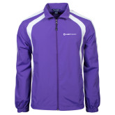 Colorblock Purple/White Wind Jacket-Ambit Energy