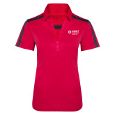 Ladies Raspberry/Charcoal Performance Color Block Polo-Ambit Energy Japan