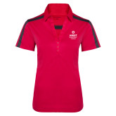 Ladies Raspberry/Charcoal Performance Color Block Polo-Ambit Energy Canada
