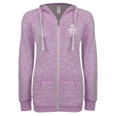ENZA Ladies Hot Violet Marled Full Zip Hoodie-Ambit Energy Canada