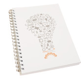 Clear 7 x 10 Spiral Journal Notebook-Lightbulb Design