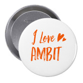 2.25 inch Round Button-I love Ambit Button