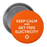 2.25 inch Round Button-Keep Calm Orange Button