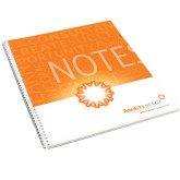 College Spiral Notebook w/Clear Coil-Typographic Design