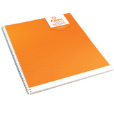 College Spiral Notebook w/Clear Coil-Striped Patterm Design