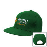 Kelly Green Flat Bill Snapback Hat-Ambit Energy Japan