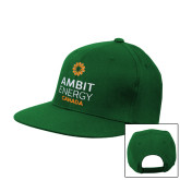 Kelly Green Flat Bill Snapback Hat-Ambit Energy Canada
