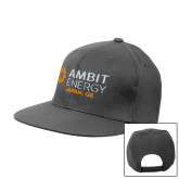 Charcoal Flat Bill Snapback Hat-Ambit Energy Japan