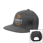 Charcoal Flat Bill Snapback Hat-Ambit Energy Canada