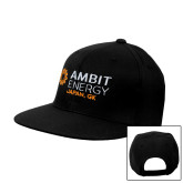 Black Flat Bill Snapback Hat-Ambit Energy Japan