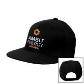 Black Flat Bill Snapback Hat-Ambit Energy Canada