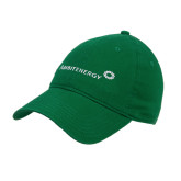 Kelly Green Twill Unstructured Low Profile Hat-