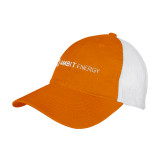 Orange/White Mesh Back Unstructured Low Profile Hat-Ambit Energy