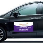 Full Color 12 x 24 Car Door Magnets 2/ set-Save Money. Make Money. in Purple