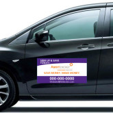 Full Color 12 x 24 Car Door Magnets 2/ set-Sign Up, Save Money Make Money in Purple